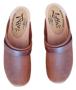 lotta from stockholm brown oiled Mules