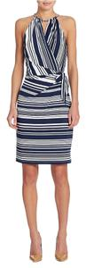 Jessica Simpson short dress Navy/White on Tradesy