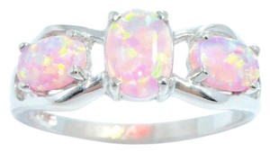 Other Pink Opal Oval Ring .925 Sterling Silver
