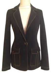 Bailey 44 Denim Stitching Dark Blue Blazer