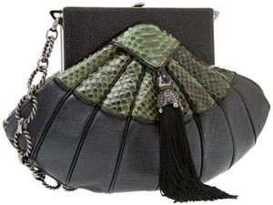 Judith Leiber Evening Python Stringray Shoulder Bag