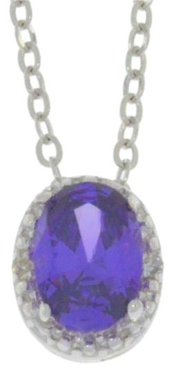 Preload https://img-static.tradesy.com/item/18512665/1-ct-amethyst-and-diamond-oval-pendant-925-sterling-silver-necklace-0-1-540-540.jpg