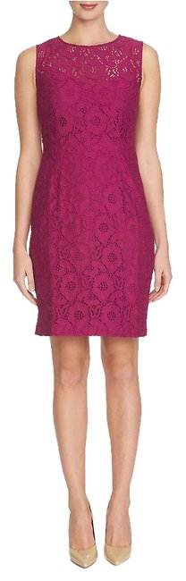Preload https://img-static.tradesy.com/item/18512716/cynthia-steffe-dark-raspberry-floral-lace-sheath-above-knee-workoffice-dress-size-6-s-0-1-650-650.jpg