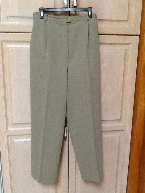Zanella for Neiman Marcus Trouser Pants Moss green texture