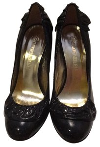 Goldenbleu Office Shoe Feminine Detail Black patent Pumps