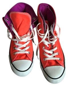 Converse Orange and purple Athletic