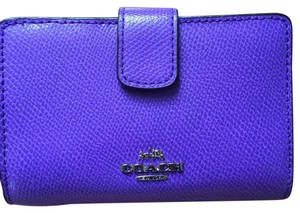 Coach Coach Crossgrain Purple Iris Leather Wallet