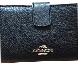 Coach Crossgrain Black Leather Wallet