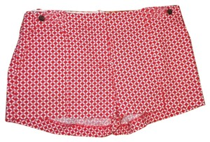 J.Crew Mod Cityfit Mini/Short Shorts Red Pattern