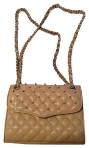 Rebecca Minkoff Leather Quilted Studded Cross Body Bag