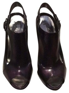 Marciano Booties Peep Toe Fashionable Deep purple Pumps