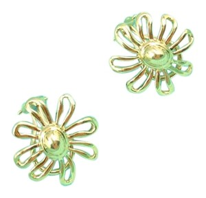 Tiffany & Co. Rare Vintage Tiffany & Co Picasso 18K Gold LARGE Daisy Flower Earrings
