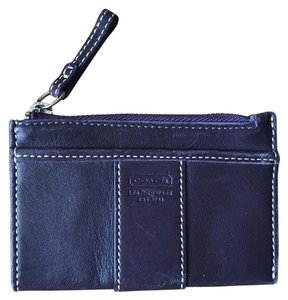 Coach Coach, Purple, Leather, Card Case, Keychain