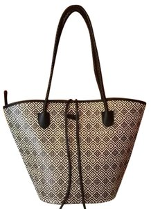 Neiman Marcus Purse Carry On Travel Tote in Black and White