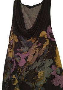 Banana Republic Drape Neck Color Floral Top multi
