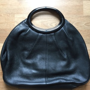 Banana Republic Pebbled Leather Satchel in Black