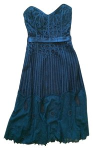 Betsey Johnson Strapless Belted Optional Sweetheart Intricate Detail Dress