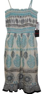 Devoted short dress Turquoise Floral on Tradesy