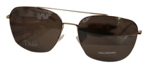 Dior NEW Christian Dior 195FS Gold Wired Polarized Aviator Sunglasses