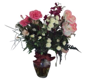 Other Artificial Flowers In Glass Vase Water