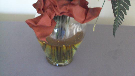 Other Artificial Flowers In Glass Vase Water Image 1