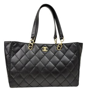 Chanel Grand Shopping Shopper Tote in Black