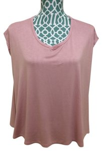 Malloy Draped Sleeveless Stand Top Pink
