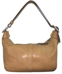 Coach Tan Leather Small Shoulder Bag