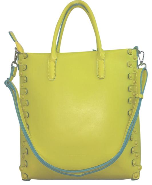 Item - Bag Yellow Faux Leather Tote