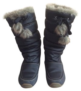 Sporto Insulated Fur Lined Snow Size 6m Winter Black Boots