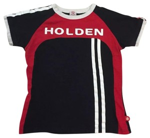 Holden Racing T Graphic T Shirt Black, White & Red