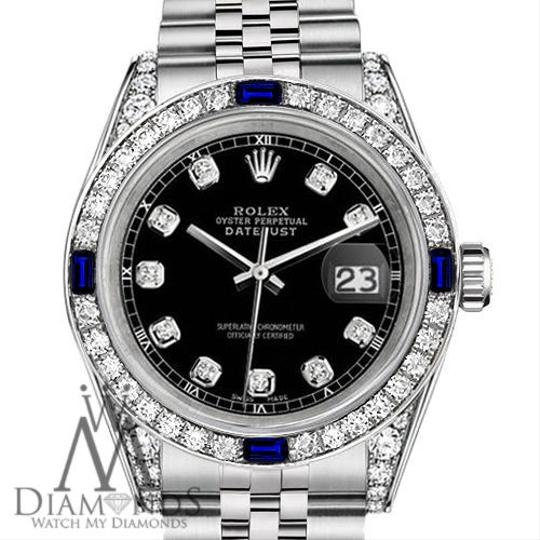 Rolex Ladies Rolex Datejust 26mm Black Dial Sapphire & Diamond A Track Image 1