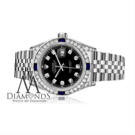 Rolex Ladies Rolex Datejust 26mm Black Dial Sapphire & Diamond A Track Image 2