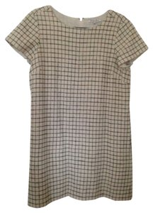 Madewell short dress cream Wool Grid on Tradesy