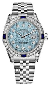 Rolex Rolex 36mm Datejust Steel Jubilee Ice Blue Dial Sapphire & Diamond