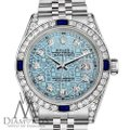 Rolex Rolex 36mm Datejust Steel Jubilee Ice Blue Dial Sapphire & Diamond Image 1