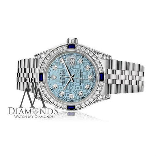 Rolex Rolex 36mm Datejust Steel Jubilee Ice Blue Dial Sapphire & Diamond Image 2