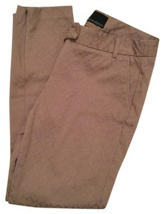 Cynthia Rowley Jacquard Textured Straight Pants Beige
