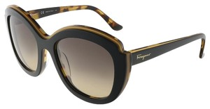 Salvatore Ferragamo Salvatore Ferragamo Black Havana Butterfly Sunglasses
