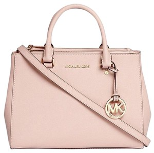 41ac44555cb8fd Added to Shopping Bag. Michael Kors New Leather Pink Silver Satchel in  Ballet gold tone