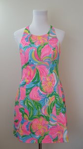 Lilly Pulitzer short dress Multi Grayes Racer-back Summer on Tradesy