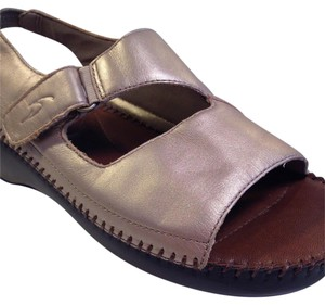 Dr. Scholl's Metallic Gold Sandals