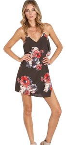 Free People short dress Black with floral graphics on Tradesy