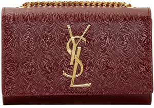 Saint Laurent Caviar Gold Classic Cross Body Bag