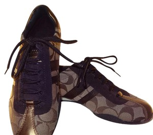 Coach Fashion Sneakers Signature Shoelace Brown, gold, bronze Athletic