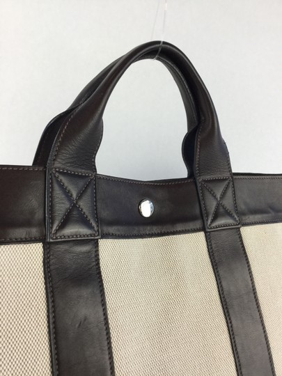 Hermès Tote in White and Brown