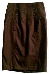 Other Pencil Back Slit Skirt Brown