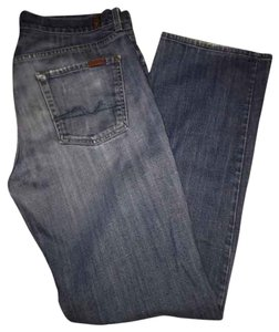 7 For All Mankind Mens Relaxed Fit Jeans-Medium Wash
