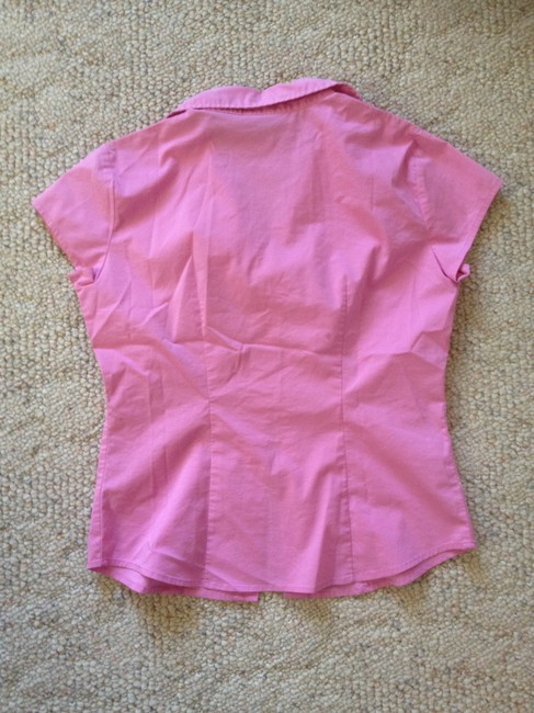 New York & Company Office Button Down Shirt Sorbet Pink