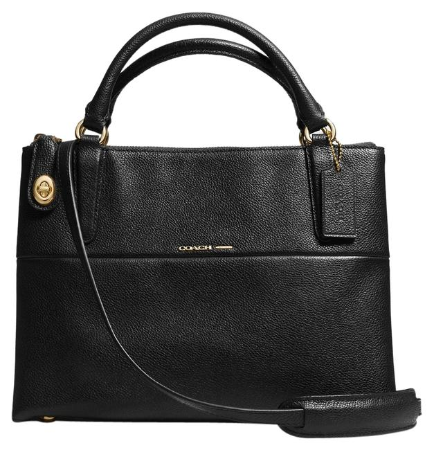 Item - Borough 33723 Small Turnlock Pebbled In Light Gold/Black Black/Gold Leather Satchel
